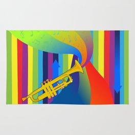 Rainbow Trumpet Rug