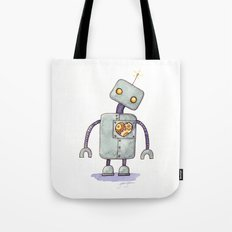Robot With A Heart Tote Bag