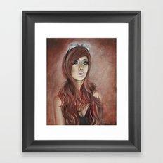 Vivian - Steam Girl Framed Art Print