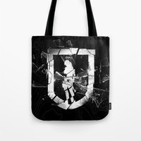 tomb raider Tote Bags featuring Tomb Raider II. by 187designz