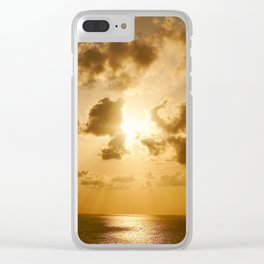 Sunset in Tel Aviv Clear iPhone Case