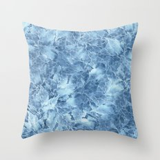 Frozen Leaves 8 Throw Pillow