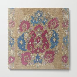 Tanchifa Algerian Silk Embroidery Metal Print