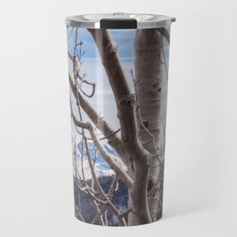 Mountains Through the Trees Travel Mug