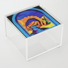 Trippy Psychedelic Surreal by Vincent Monaco - Triassic Pond Acrylic Box