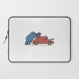 accident of two cars Laptop Sleeve