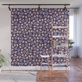 Gusts and Leaves Pattern (Blue) Wall Mural