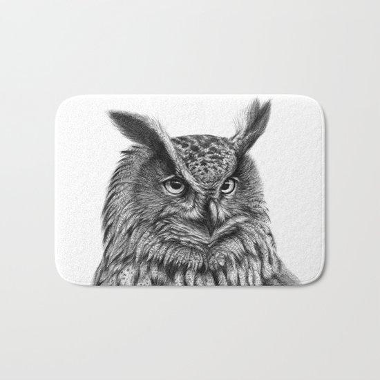 Eurasian Eagle Owl Bath Mat