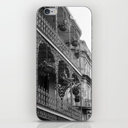 New Orleans Architecture - Black & White Photography iPhone Skin