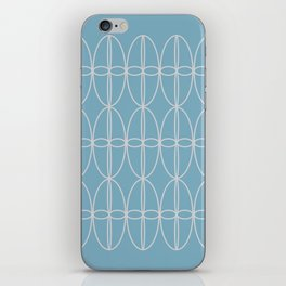 Masks, Grey on Blue iPhone Skin
