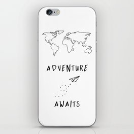 Adventure Map on White iPhone Skin
