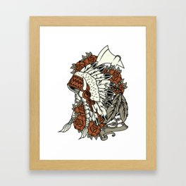 Native American Indian Chief Framed Art Print