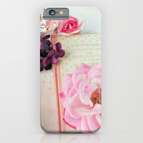 Pink Book with Flowers iPhone & iPod Case