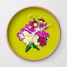 Bright Bouquet Wall Clock