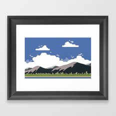 Minimalistic landscape Framed Art Print