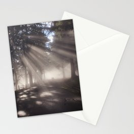 early morning stroll in the park Stationery Cards