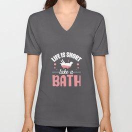 Bath Bathtub Unisex V-Neck