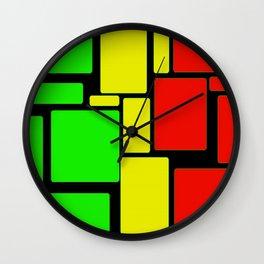 Ghanaian colors Wall Clock