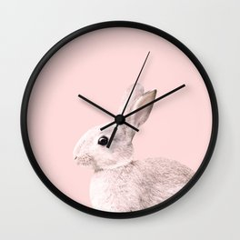 Blush Baby Bunny #1 #decor #art #society6 Wall Clock