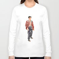 tyler spangler Long Sleeve T-shirts featuring Tyler Durden by A Deniz Akerman