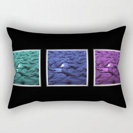 Sun Puddles at the Beach Cool Tints Rectangular Pillow