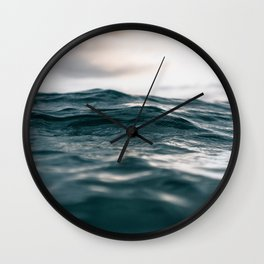 Blue Ocean Wave Wall Clock
