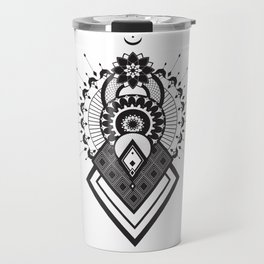 Mandala of the sun, moon and stars. Travel Mug
