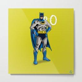 Bat man smoking Metal Print