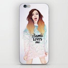 Jade loves Bamby iPhone Skin
