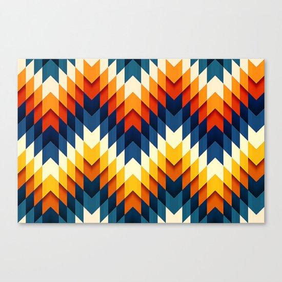 Wanderlust pattern Canvas Print