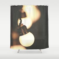 lights Shower Curtains featuring Lights by Whitney Retter
