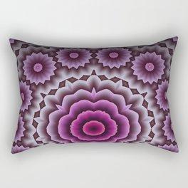 Purple abstract flowers kaleidoscope Rectangular Pillow