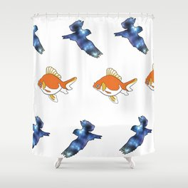 Floaters Shower Curtain