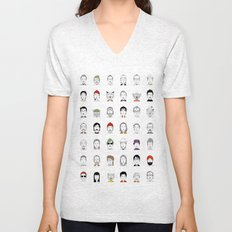 The Characters of W Unisex V-Neck