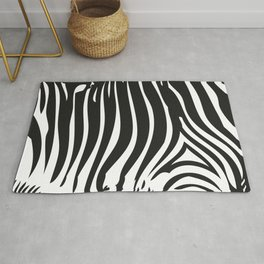 Zebra Stripes | Animal Print | Black and White | Rug