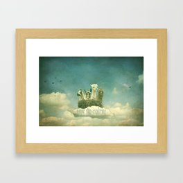 NEVER STOP EXPLORING 1 (THE CLOUDS) Framed Art Print