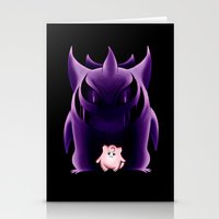 gengar Stationery Cards featuring Grim Gengar by JackiesGamingArt