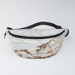 Manhattan Gold Marble Stone Fanny Pack