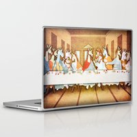 the last unicorn Laptop & iPad Skins featuring Last Supper Unicorn by That's So Unicorny