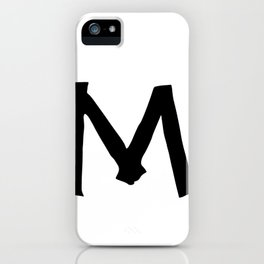 M Monogram (Hand 2) iPhone Case