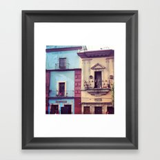 Mexican houses Framed Art Print