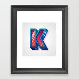 The Letter K Framed Art Print