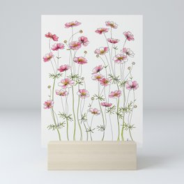 Pink Cosmos Flowers Mini Art Print
