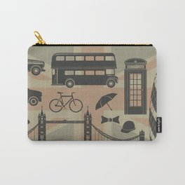 vector set of London landmarks Britain symbols isolated Carry-All Pouch
