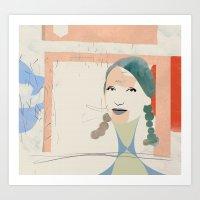 elsa Art Prints featuring Elsa by John Murphy