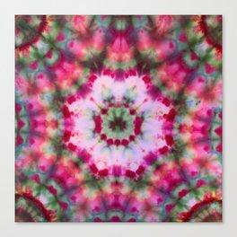 Summer Tie Dye Starburst Canvas Print