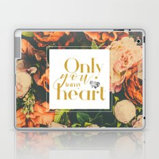 Orange flowers of love Laptop & iPad Skin
