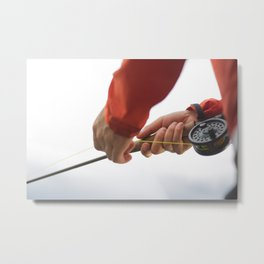 Reel Time Metal Print