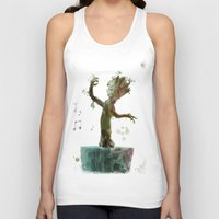 groot Tank Tops featuring Baby Groot by Scofield Designs