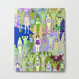 Solar Martian Green Suntan City Metal Print